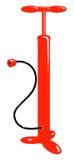 Rote Luftpumpe des vektorfahrrades Stockbild