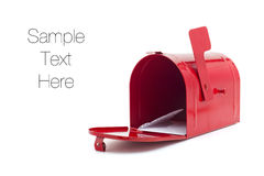 Rote Mailbox Stockfotografie