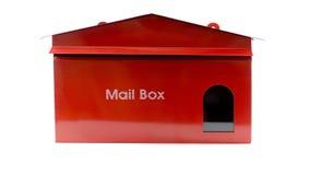 Rote Mailbox stockfotos