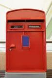 Rote Mailbox in London Lizenzfreies Stockbild