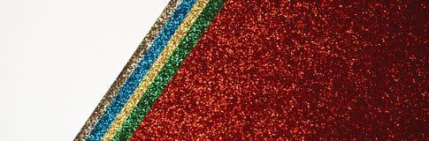 Rote mehrfarbige abstrakte Fahne lizenzfreie stockbilder