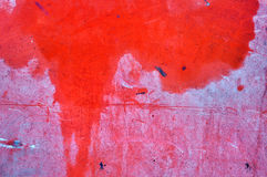 Rote metallische Oberfläche als strukturierter Hintergrund Lizenzfreies Stockfoto