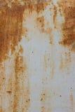 Rote metallische verrostete Oberfläche als strukturierter Hintergrund Lizenzfreies Stockfoto