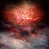 Rote Nebelflecke Lizenzfreies Stockbild