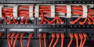 Rote Netzkabel angeschlossen an Schalter lizenzfreies stockfoto