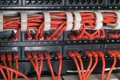 Rote Netzkabel angeschlossen an Schalter stockfoto