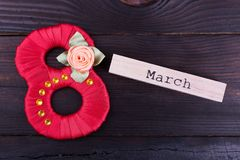 Rote Nr. acht, Wort März Lizenzfreie Stockfotos
