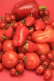 Rote Obst und Gemüse stockbilder