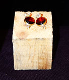 Rote Ohrringe Lizenzfreies Stockfoto
