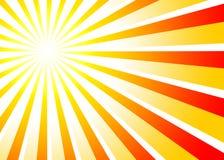 Rote Orange 01 des Sunbeamshintergrundes Lizenzfreie Stockbilder