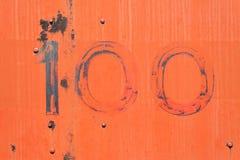 Rote orange alte Metallhintergrundbeschaffenheit Stockfotografie