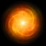 Rote/orange Energiekugel Stockfotos