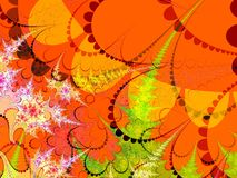 Rote orange und grüne Formen Stockfotografie