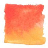 Rote orange Watercolourzusammenfassungs-Quadratmalerei Stockbilder