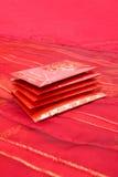 Rote Pakete Lizenzfreie Stockfotos