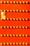 Rote Palasttür Stockbild