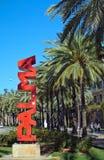 Rote Palma-Wortskulptur Lizenzfreie Stockbilder