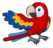 Rote Papageienillustration Lizenzfreie Stockfotografie