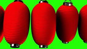 Rote Papierlaterne auf grünem Farbenreinheitsschlüssel stock abbildung