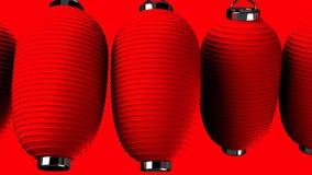 Rote Papierlaterne auf rotem Hintergrund stock abbildung