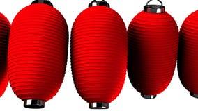 Rote Papierlaterne auf weißem Hintergrund lizenzfreie abbildung