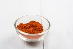 Rote Paprika In Bowl Lizenzfreie Stockfotografie