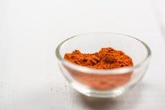 Rote Paprika In Bowl Lizenzfreies Stockbild