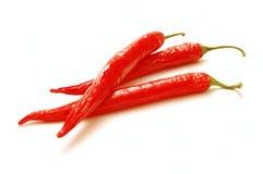 Rote Paprikas getrennt Stockbild