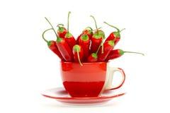 Rote Pfeffer in einem Becher Lizenzfreie Stockfotografie