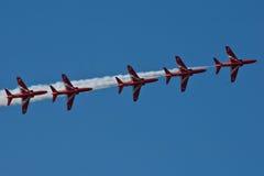 Rote Pfeil-Flugzeug-Anzeige Team Fairford Air Show RAF Airport Lizenzfreie Stockfotos
