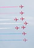 Rote Pfeil-Royal Air Force-Flugschau über Tallinn-Bucht bei 23 06 2014 Stockfotografie