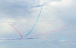 Rote Pfeil-Royal Air Force-Flugschau über Tallinn-Bucht bei 23 06 2014 Stockbild