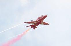 Rote Pfeil-Royal Air Force-Flugschau über Tallinn-Bucht bei 23 06 2014 Lizenzfreies Stockbild