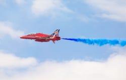 Rote Pfeil-Royal Air Force-Flugschau über Tallinn-Bucht bei 23 06 2014 Stockfoto