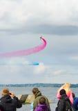 Rote Pfeil-Royal Air Force-Flugschau über Tallinn-Bucht bei 23 06 2014 Lizenzfreie Stockbilder