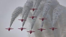 Rote Pfeile Stockfoto