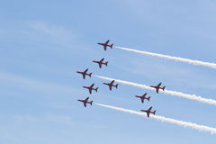 Rote Pfeile bei Wales nationales Airshow 2017 Lizenzfreies Stockbild