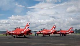 Rote Pfeile in Farnborough Airshow 2016 lizenzfreie stockbilder