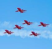 Rote Pfeilflugzeuge Lizenzfreie Stockfotografie