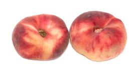 Rote Pfirsiche lokalisiert auf weißem Hintergrund Lizenzfreies Stockbild