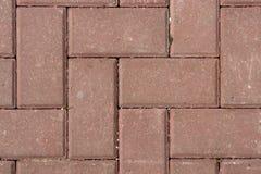 Rote Pflasterung entsteint Bodenmuster Beschneidungspfad eingeschlossen Lizenzfreie Stockfotografie