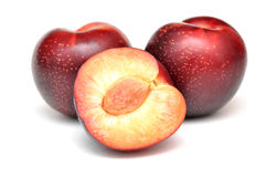 Rote Pflaumefrucht Lizenzfreie Stockbilder