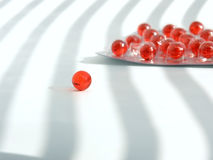 Rote Pillen lizenzfreies stockfoto
