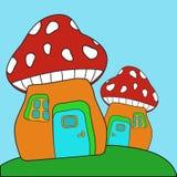 Rote Pilze Lizenzfreies Stockfoto