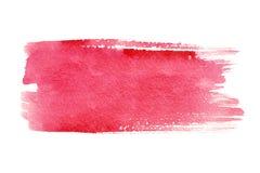 Rote Pinselanschläge Stockfotos