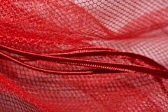 Rote Plastikfiletarbeit Lizenzfreies Stockfoto