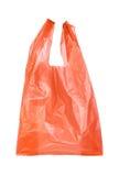 Rote Plastiktaschen stockbild