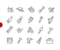 Rote Punkt-Reihe Werkzeug-Ikonen// Lizenzfreie Stockfotos