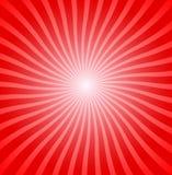 Rote Radialstreifen Stockfotografie