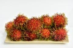 Rote Rambutanfrucht Lizenzfreie Stockfotos